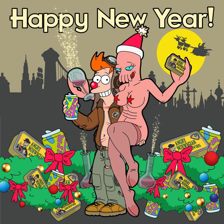 Futurama - Happy New Year! - 2016 by bear-bm