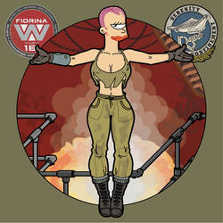 Leela | Ripley | Alien-3 | Futurama :) (version-3) by bear-bm