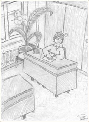 self-portrait in interior by lapochkin