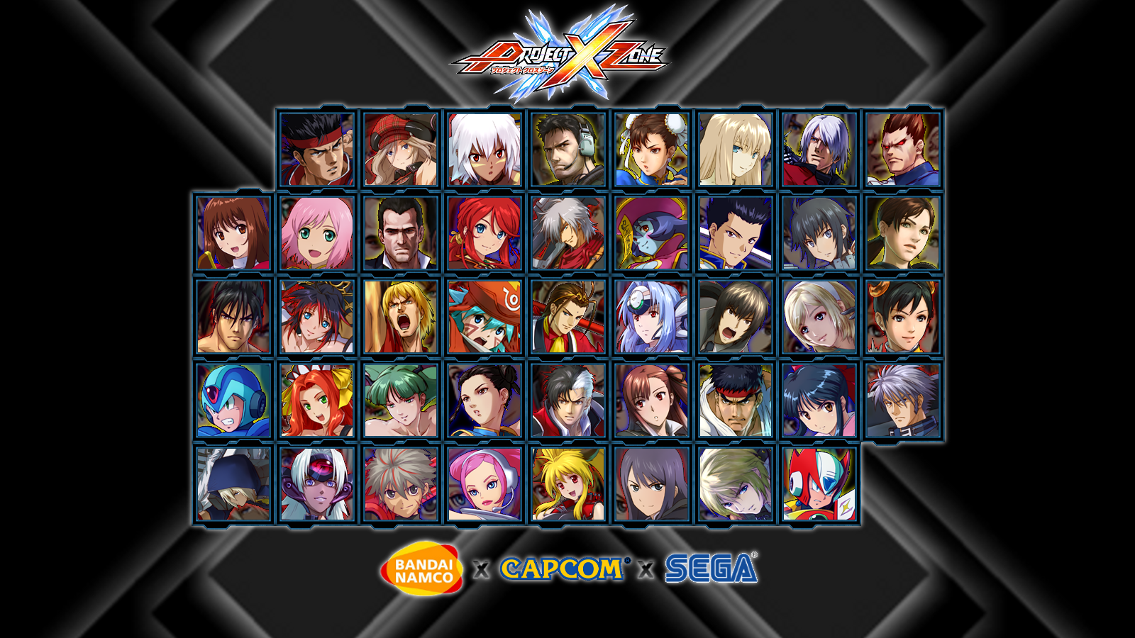 Custom Project X Zone Wallpaper by Kirby-Kid