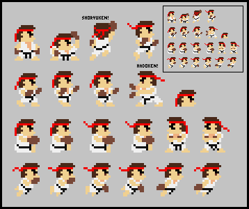Ryu Costume for Super Mario Maker by Kirby-Kid
