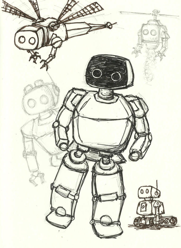 Robot Drawings - Robot Drawings By Shellshockf Ngzxw