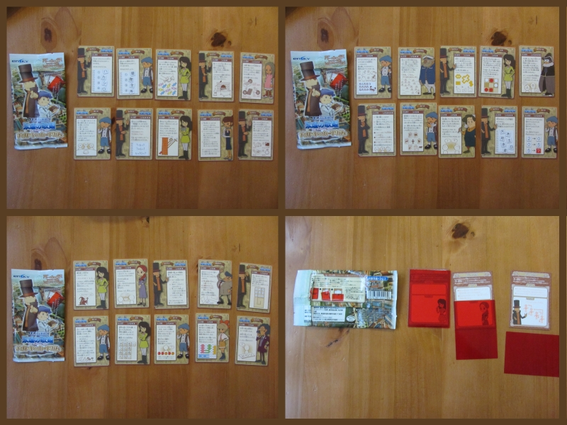 Professor Layton Trading cards Full set by BenjaminHunter