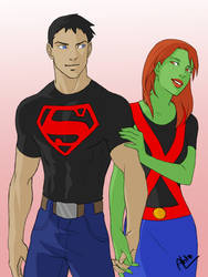 Miss Martian Superboy - 08 by Drakyx