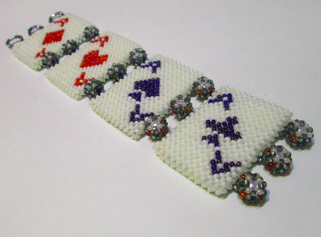 playing card bracelet (front) by AngelinaKrasnaya