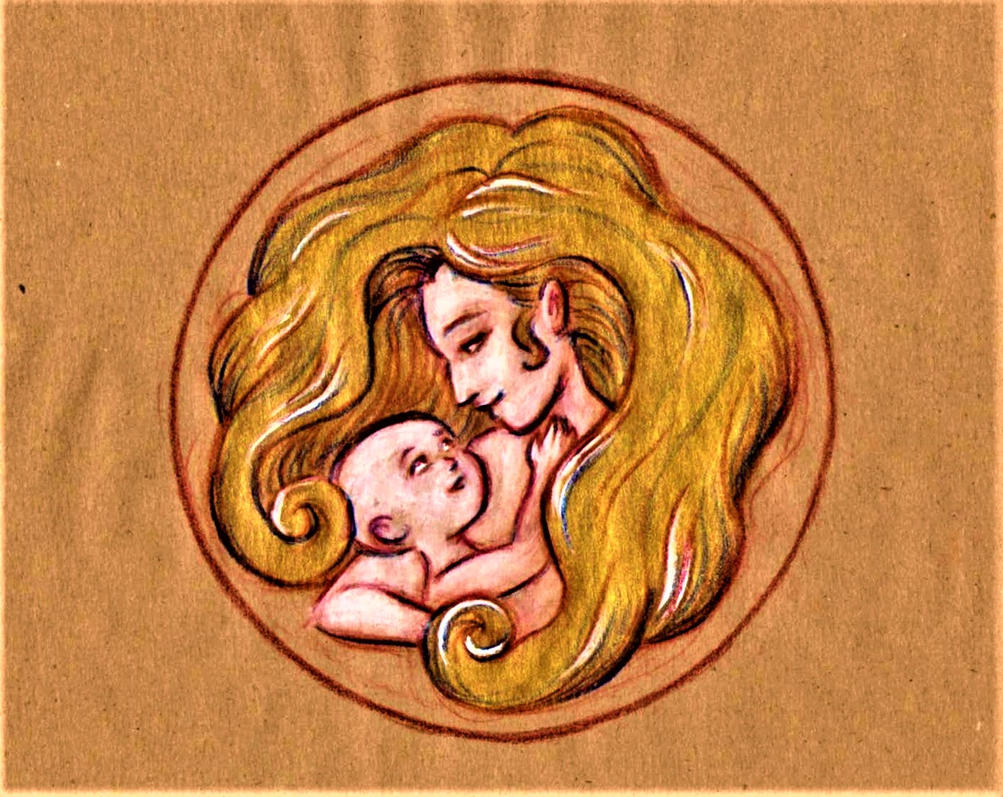 Mother's Day emblem by AngelinaKrasnaya