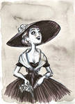 Fast scetch - Vintage girl
