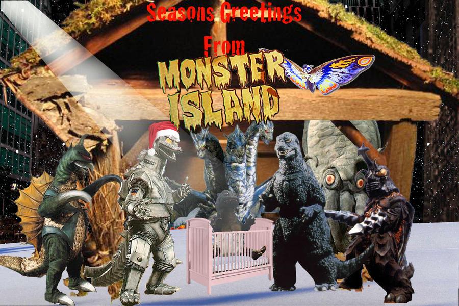 Godzilla Christmas Card By Badrobotwebdesign On Deviantart