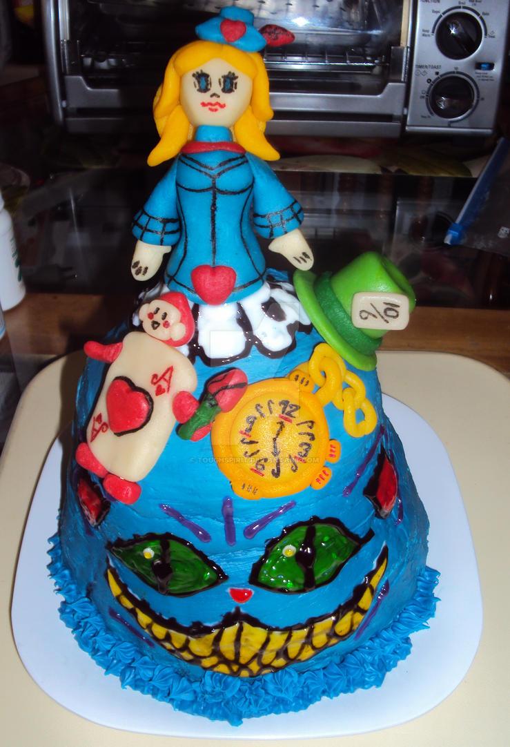 Alice Wonderland Cake by ToughSpirit on DeviantArt