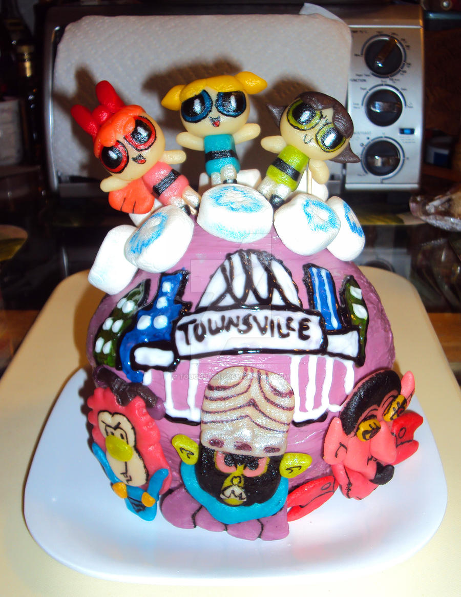 powerpuff girls cake powerpuff townsville cake by toughspirit on deviantart 6741