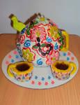 Flower Jellybeans, Teapot Cake