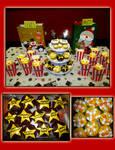 Movie Stars and Popcorn Cupcakes