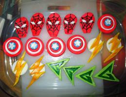Superhero Convention Fondant Designs (Season 2015) by ToughSpirit