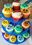 Starter Pokemon Cupcakes by ToughSpirit