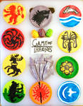 Game of Thrones Fondant Cupcakes by ToughSpirit