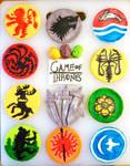 Game of Thrones Fondant Cupcakes by ToughSpirit