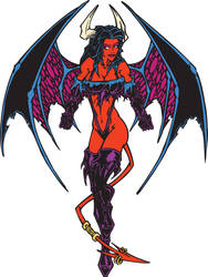 devil girl by sidewinder72