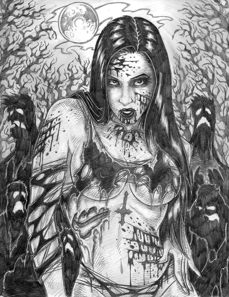 Elena Bathory Zombie by sidewinder72