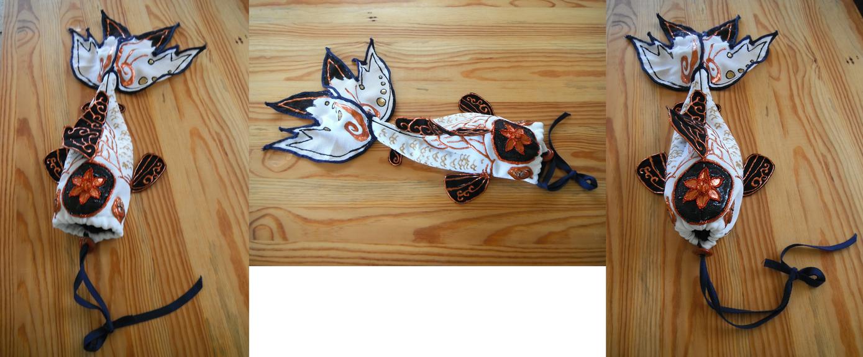 Crimson koi fish purse by kaiserwolf on deviantart for Koi fish purse
