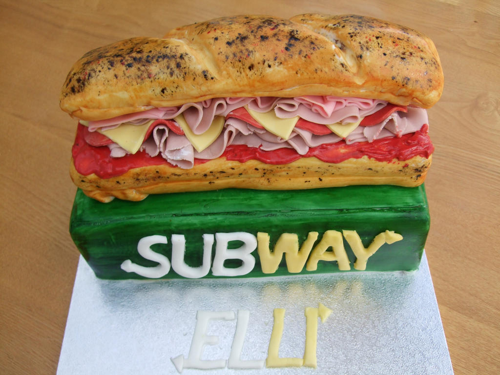 Subway Sandwich Birthday Cake