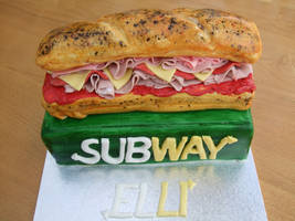 Subway Birthday cake by littlebrownfairycake