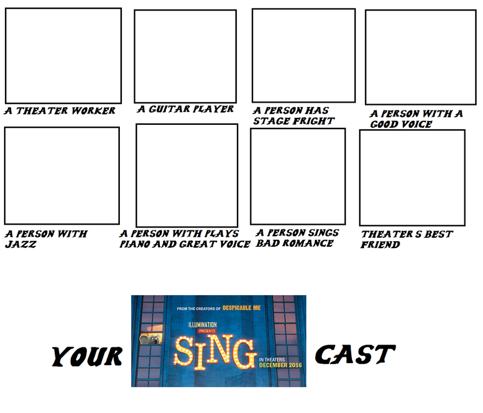 Your Own Sing Cast by mixelfangirl100