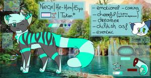 || Reference Sheet 2019 || Neox (fursona)
