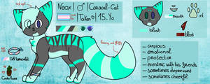 || Reference Sheet 2019 || Neox (fursona) by PistacheTheCactus