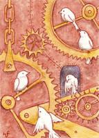 The Clockwork Bird House by haz-elf