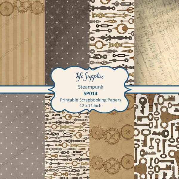 Steampunk Scrapbooking Papers by haz-elf