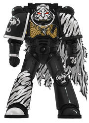 White Tiger Space Marine Chapter Standard edition by Uthstar01