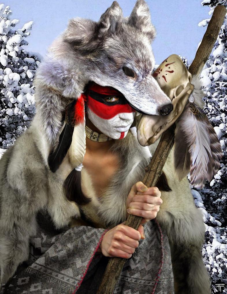 Wolf Priestess. by TommyTejeda