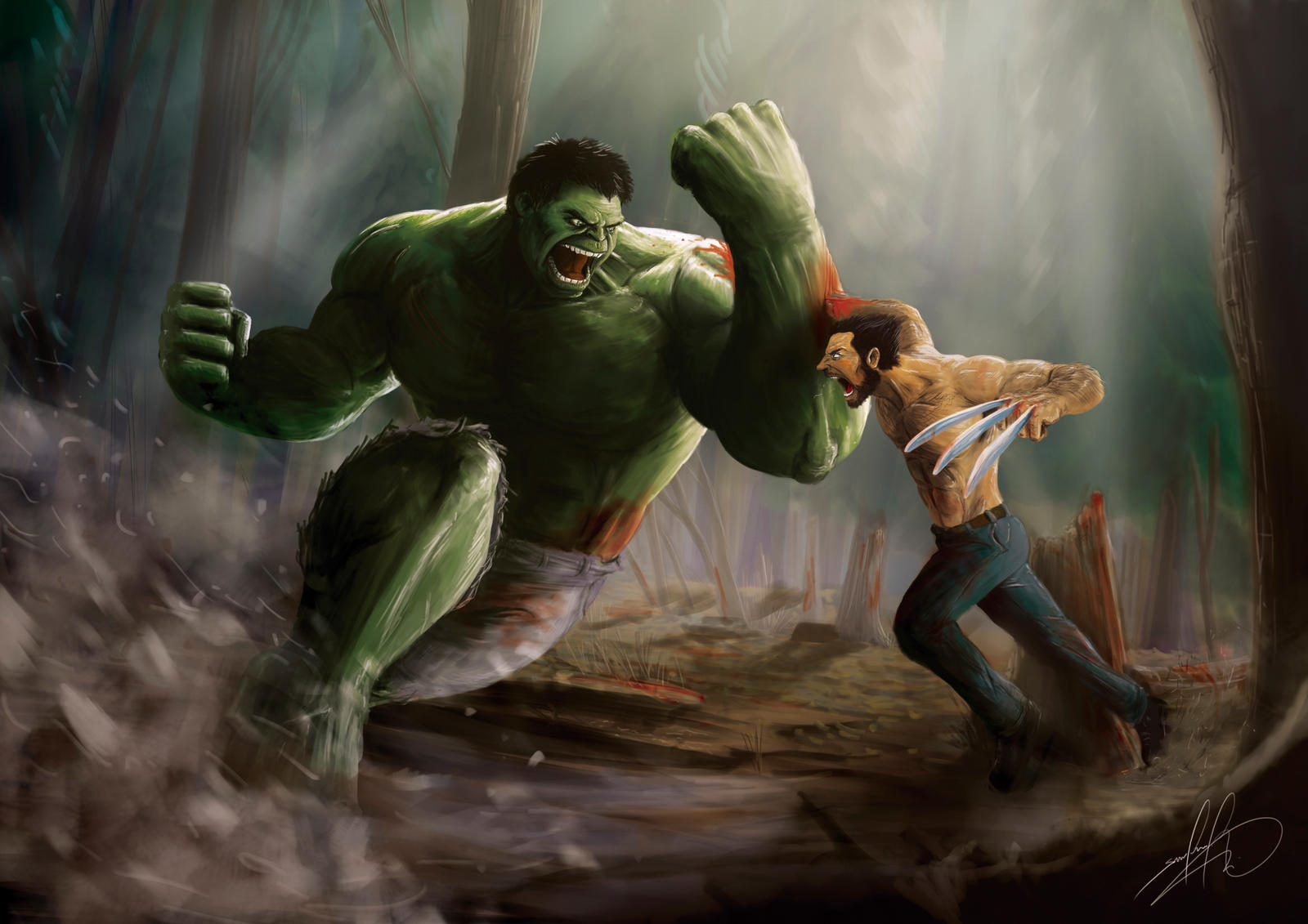Hulk Vs Wolverine By Wafspr On DeviantArt