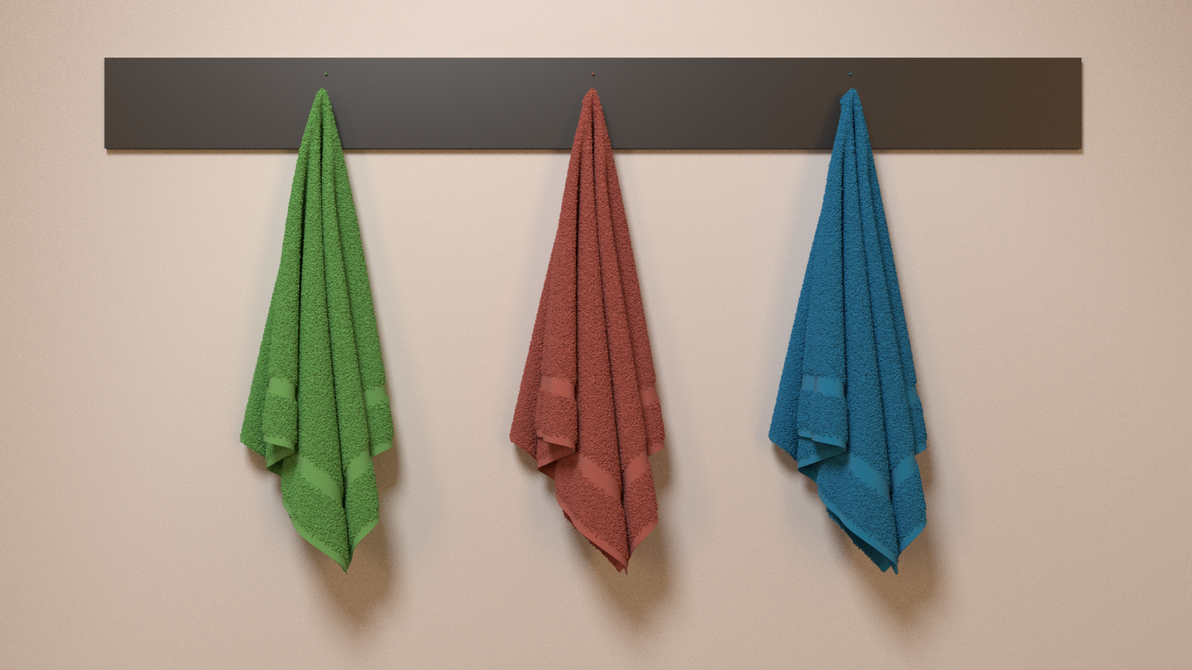 3D Towels (BlenderGuru Tutorial) by hvaddi9