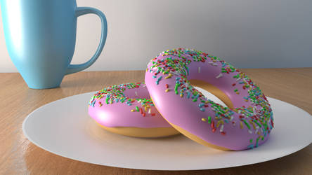 Donuts and a cup