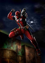 DEADPOOL  Speed Painting by MOROTEO56