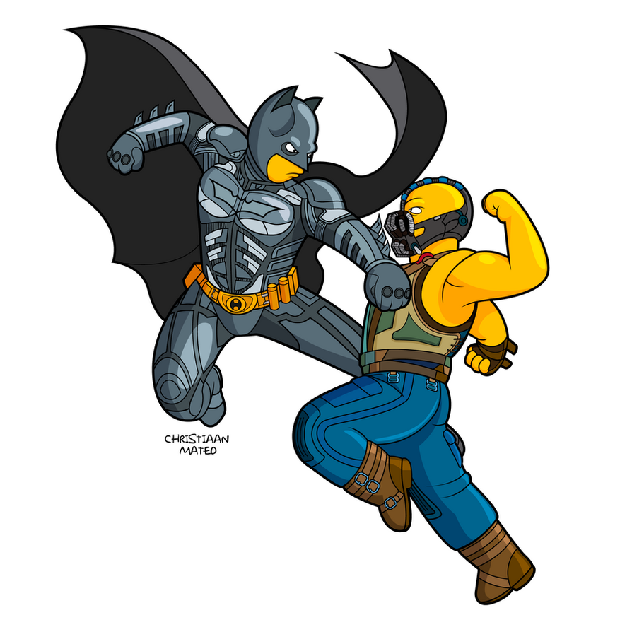 The Dark Knight Rises - the Simpsons by MOROTEO56
