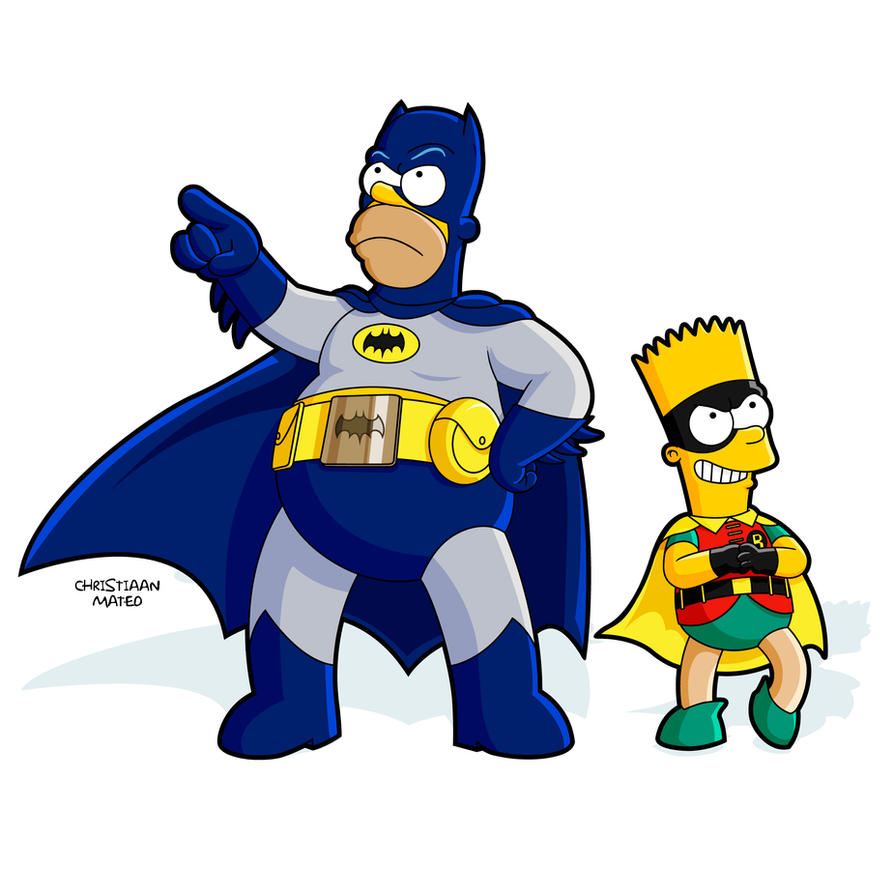batman and robin the simpsons by moroteo56 on deviantart rh moroteo56 deviantart com batman and robin clip art free batman and robin clipart