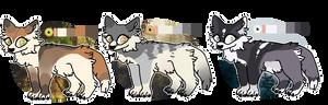 cute little wolves!!    2/3 OPEN