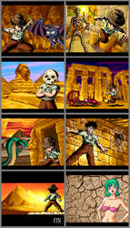 Pyramid Plunder pixel art pictures