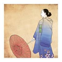 Japanese Woman in Kimono by sunteam