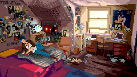 Chloe's room (pixelart) from Life is Strange