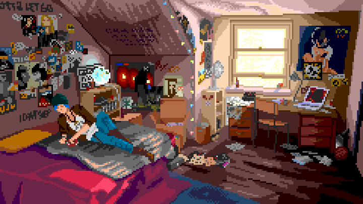 Chloe's room (pixelart) from Life is Strange by sunteam