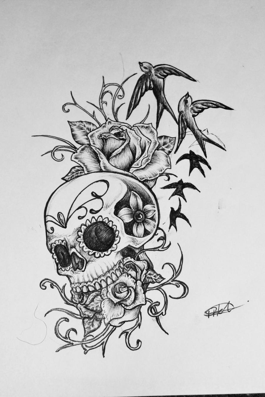 Sugar Skull Tattoo Design Photos