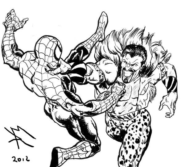 mysterio spiderman coloring pages - photo#42