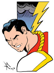 Captain Marvel in color