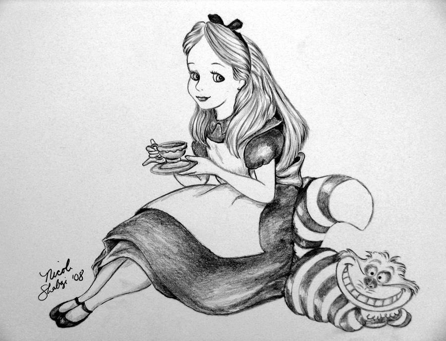 alice in wonderland sketch by melodybella on deviantart