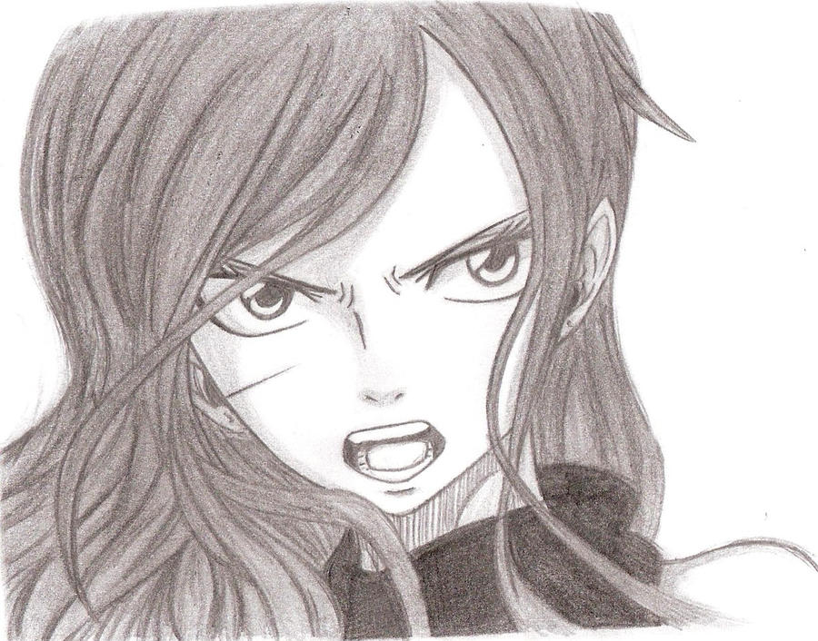 how to draw erza scarlet face