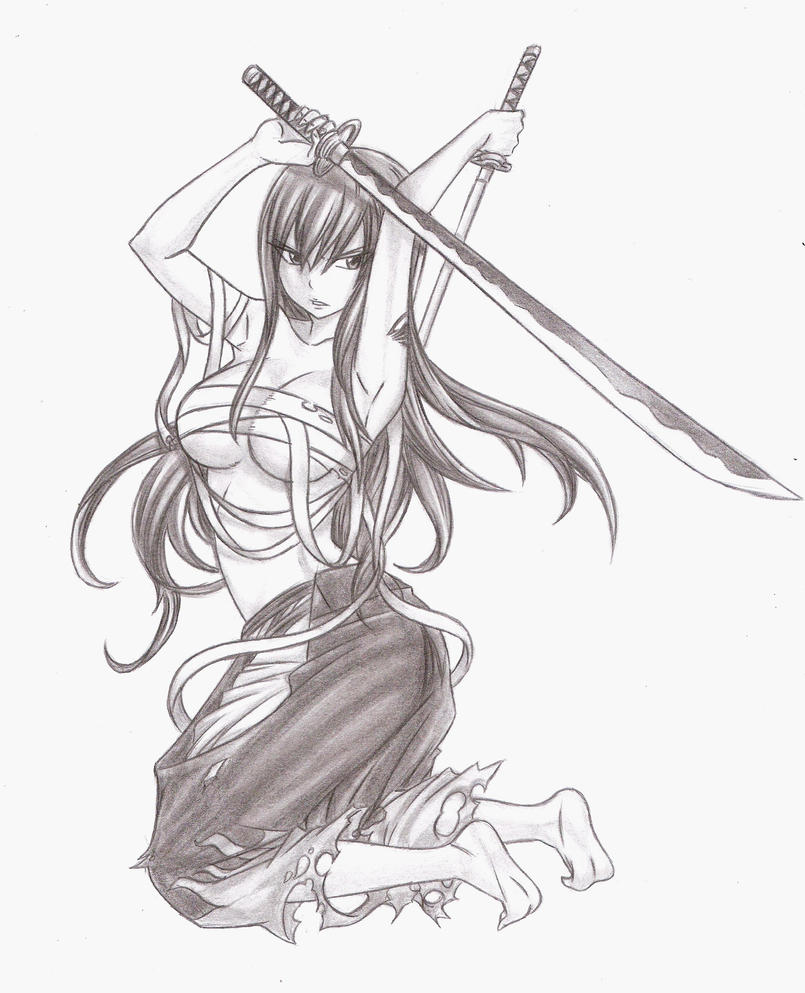 Fairy Tail Drawings Erza Fairy Tail - Erza by C...