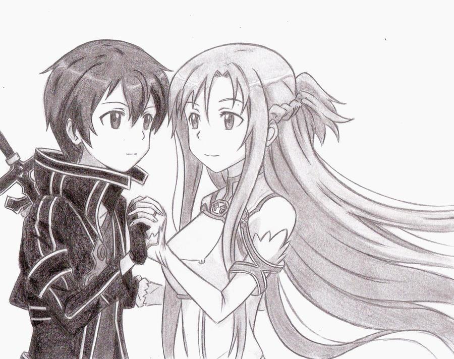 Asuna And Kirito By Chocogirl3 On Deviantart